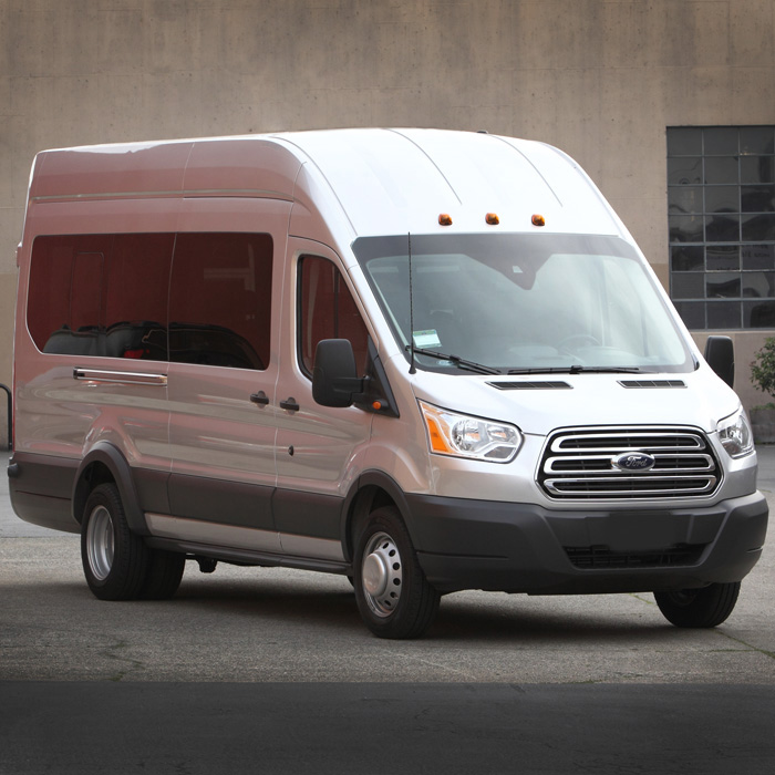 15 Passenger Ford Transit High Top: Vehicles