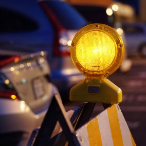 Traffic Barricade w/ LED Light