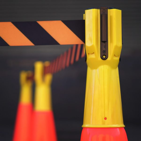 Traffic Cone Retractable Belt Stanchion